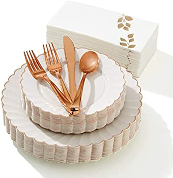 175-Pieces Madee Premium Disposable Dinnerware Set