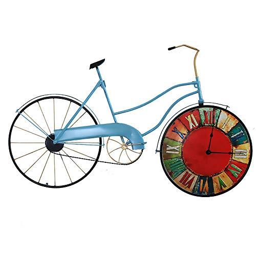 Chef Turk Estilo Retro Diseño De Bicicleta Creativa Reloj De Pared Industrial Viento Hierro Forjado Decoración De La Pared Decoración De La Pared Bar Colgante De Pared Reloj Reloj de jardinería