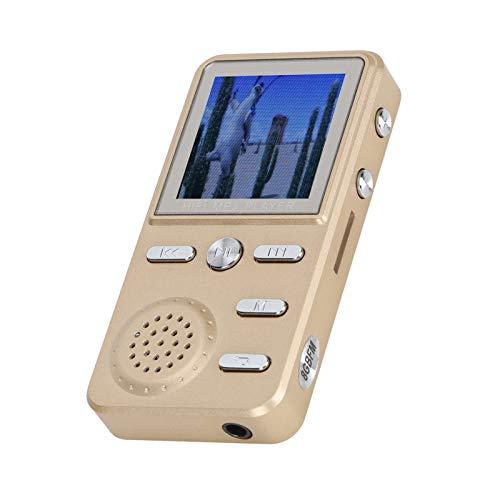 Reproductor MP3 / MP4 portátil con botón, multifunción de metal 8GB MP3 / MP4 HIFI sin pérdidas Reproductor multimedia portátil FM Reloj grabadora, soporte para lectura de libros electrónicos y reloj ⭐