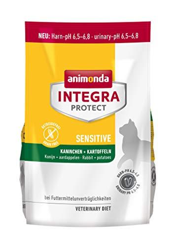 animonda Integra Protect Katze Sensitive,  Diät Katzenfutter,  Trockenfutter bei Futtermittelallergie, Kaninchen + Kartoffeln, 1,2 kg