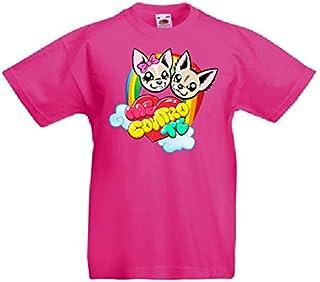 M // 9-10 Anni Rosa SpotApplick T Shirt Maglia Bambino Bambina Me contro te Mezza Manica 100/% Cotone Bianca 01