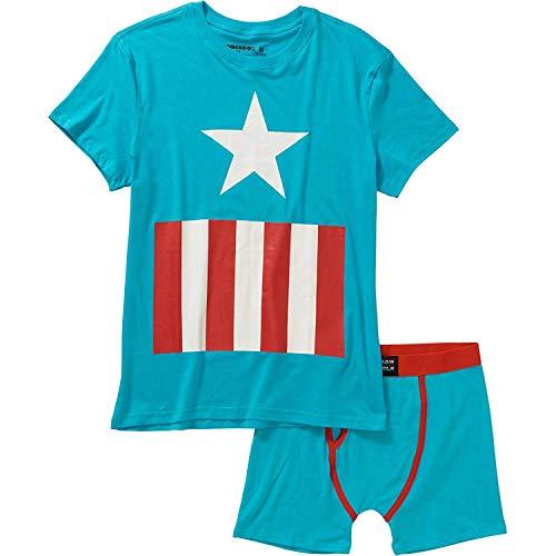 Boys Underoos Underwear Set Top & Boxer Briefs Paw Patrol Spiderman Superman (4, Captain America)
