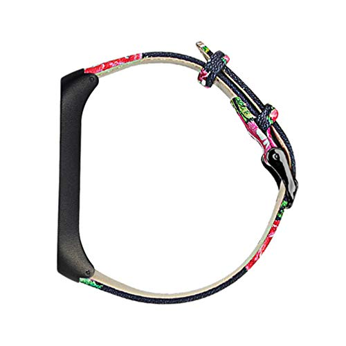 NICERIO Compatible para Mi Band 4 Correa de Cuero Correa de Reloj Smartwatch Pulseras Reemplazo Reloj Pulsera Accesorios