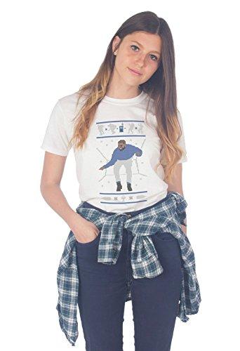 Sanfran–Hotline Bling Ugly Weihnachten Top Pullover Funny Geschenk 1800T-Shirt Gr. XL, Weiß