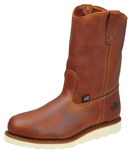 """Thorogood 814-4208 Men's American Heritage 11"""" Wellington, MAXWear Wedge Non-Safety Toe Boot, Tobacco Oil-Tanned - 9 D(M) US"""