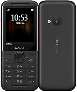 NOKIA 5310 Feature Phone, 16MB RAM, Wireless FM Radio - Black/Red