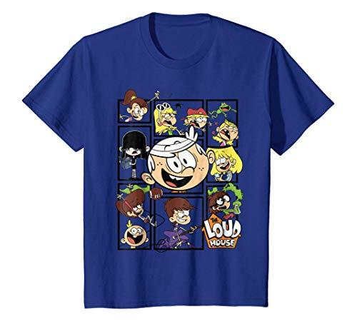 Kids The Loud House Loud Family in Box Frames T-Shirt