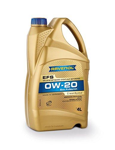 RAVENOL EFS SAE 0W-20 / 0W20 Vollsynthetisches Motoröl (4 Liter)