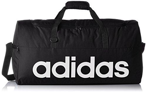 adidas AJ9923 - Bolso deportivo rendimiento lineal, color Negro / Blanco, talla L