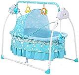 HUIYAN Elektrische Babywippe Baby Wippe Elektrische Wiege-Bett | Kleinkind-Sitzstuhl-Rocker | Baby-Hüterstuhl | Sleepy Intelligent Automatischer Schaukelstuhl | für Neugeborene bis Kleinkind-Bett