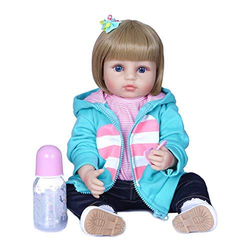 6Wcveuebuc Muñeca realista realista de 55,88 cm de silicona suave bebé bebé encantadora niña acompañar juguete cumpleaños
