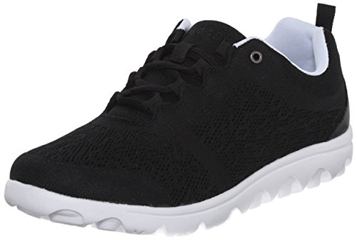 Propet Women's TravelActiv Sneaker, Black, 8.5 Medium