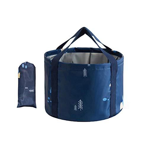 Terynbat Cubo plegable, grande portátil, lavabo plegable portátil, lavabo al aire libre, viajes, bolsa grande para el baño de pies, lavabo, baño de pies