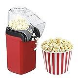 YANGOUMAO Maker Popcorn Haga Deliciosos Bocadillos Bajos En Calorías 1200W Rojo Ideal para Adultos Y Niños Durante La Noche...