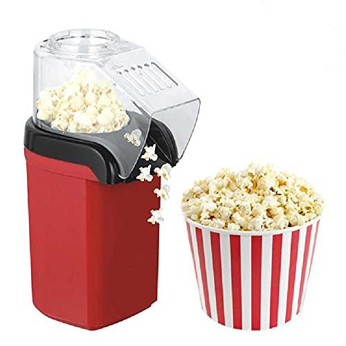 YANGOUMAO Maker Popcorn Haga Deliciosos Bocadillos Bajos En Calorías 1200W Rojo Ideal para Adultos Y Niños Durante La Noche para Fiestas Y Noches De Cine 6.49x4.72x10.43in/Rojo