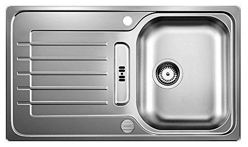 BLANCO ZIA 45 S – Rechteckige Edelstahlspüle für 45 cm breite Unterschränke für die Küche – Edelstahl – 514614