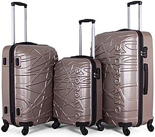 Giordano Luggage Trolley Bags Set, 3 Pcs With 4 Wheel, Champinge - 170892, Unisex