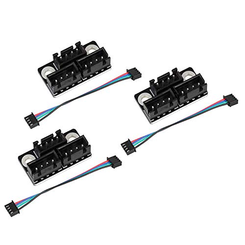 Facibom 3Pcs 3D Printer Stepper Motor Parallel Module with Cable Dual Z Axis Dual Z Motor for Lerdge 3D Printer Board