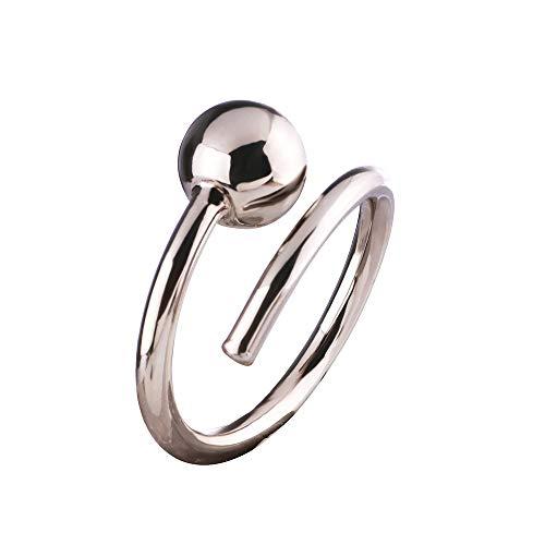 Sincera Bisutería para mujer, elegante, anillo de clavo, acero inoxidable chapado en oro rosa oscuro de 18 quilates, oro chocolate
