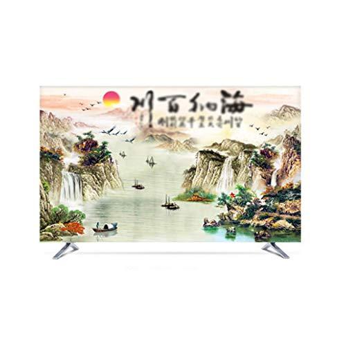 MFMYUANHAN Cubierta Protectora de Pantalla de TV en Cubiertas de monitores en Protectores de Pantalla para televisores 55 Pulgadas 60 Pulgadas Cubierta de TV LCD para el hogar(Size:49in,Color:2#)