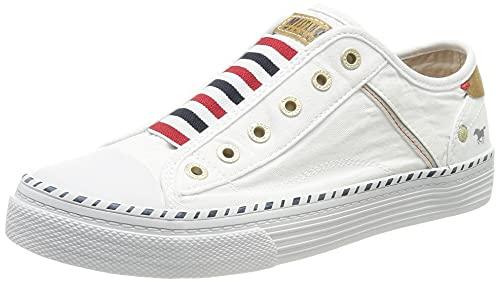 MUSTANG Damen Canvas Sneaker Weiß, Schuhgröße:EUR 45