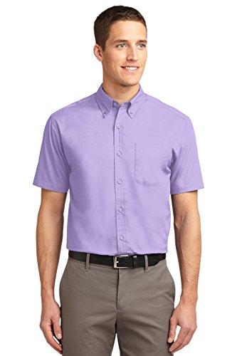 Port Authority Men's Short Sleeve Easy Care Shirt 3XL Bright Lavender