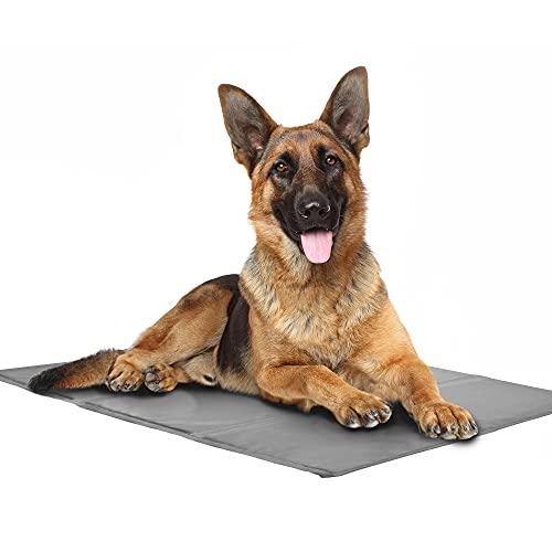 PetSol Tappetino Raffreddamento Cane Gatto (90x50cm) Gel Non tossico - Sistema di Auto Raffreddamento - Perfetto per Cani e Gatti in Estate