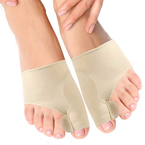 Bunion Corrector and Orthopedic Hallux Valgus Relief Splint Gel Bunion Pads Sleeves Brace – Toe Stretcher Bunion Guard for Men and Women Gel Toe Spacer, Toe Separator, Toe Spreader – Bunion Protector