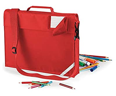 JUNIOR BOOK BAG SCHOOL BAG WITH STRAP - 5 COLOURS (Bright Red) from
