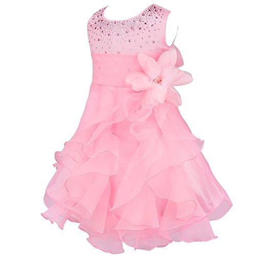iiniim Baby Mädchen Kleid Prinzessin Kleid Blumenmädchenkleid Festlich Hochzeit Kleid Kleinkind...