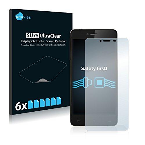 Savvies 6X Schutzfolie kompatibel mit Elephone S2 Bildschirmschutz-Folie Ultra-transparent