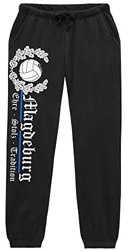 Magdeburg Ehre u. Stolz Herren Jogginghose | Fussball Ultras Fan Hose | M2 (S)