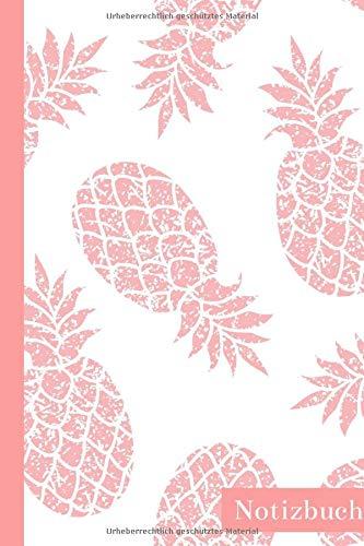Notizbuch: Ananas Tagebuch/Notizheft ca A5 liniert mit 100 Seiten zum Eintragen und Ausfüllen der Notizen, Zeichnungen, Ideen oder Erinnerungen | ... zu Weihnachten für Ananas Liebhaber und Fans