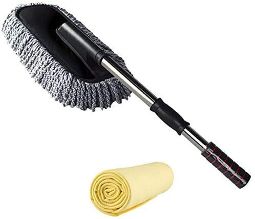 Durable Car Duster -The Best Microfiber Multipurpose Duster -Home Interior Use-Professional Detailing Tool-Comfort Handle,D,Size:A (Size : D)
