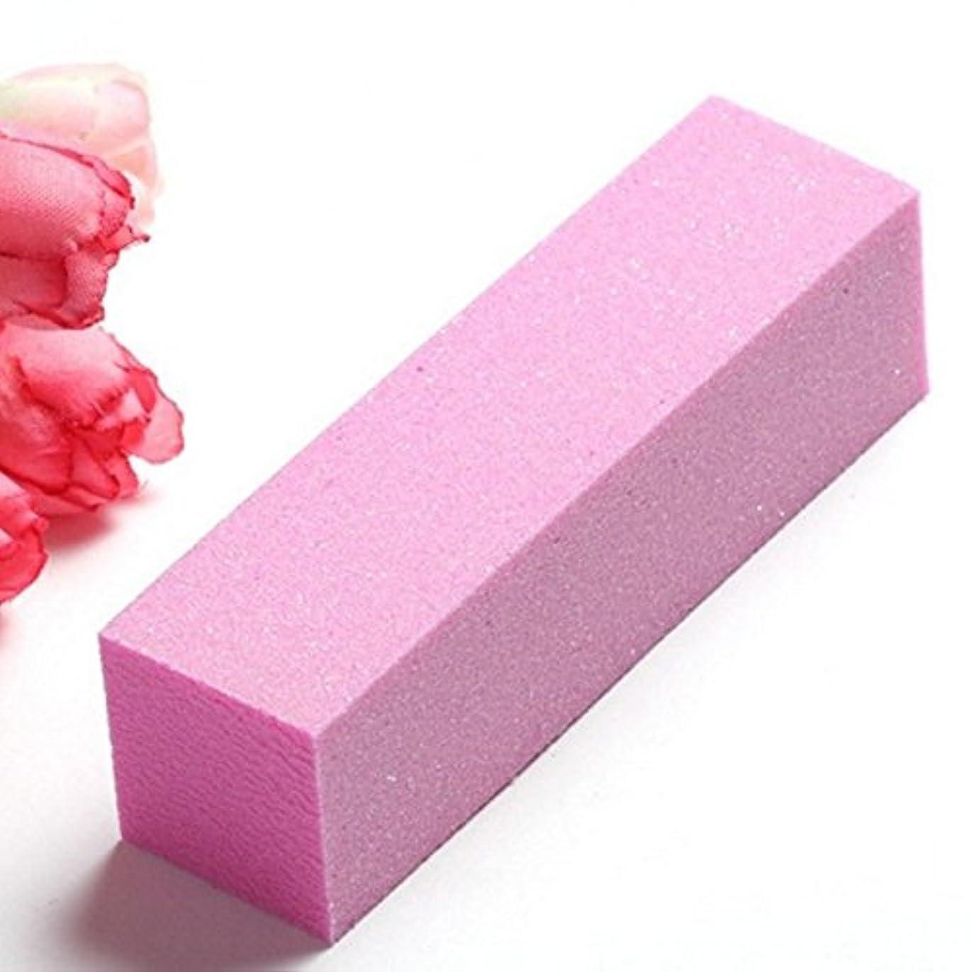 分析的くさびウルルRaiFu 爪やすり ネイルファイル ネイルアート バッファー サンディング ブロック ピンクスポンジ バッファリング 研磨マニキュアツール