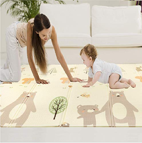 Best Price Baby Play Mat Baby Mat Folding Mat Playmat Crawling Mat Large Foam Mat Waterproof Non-Tox...
