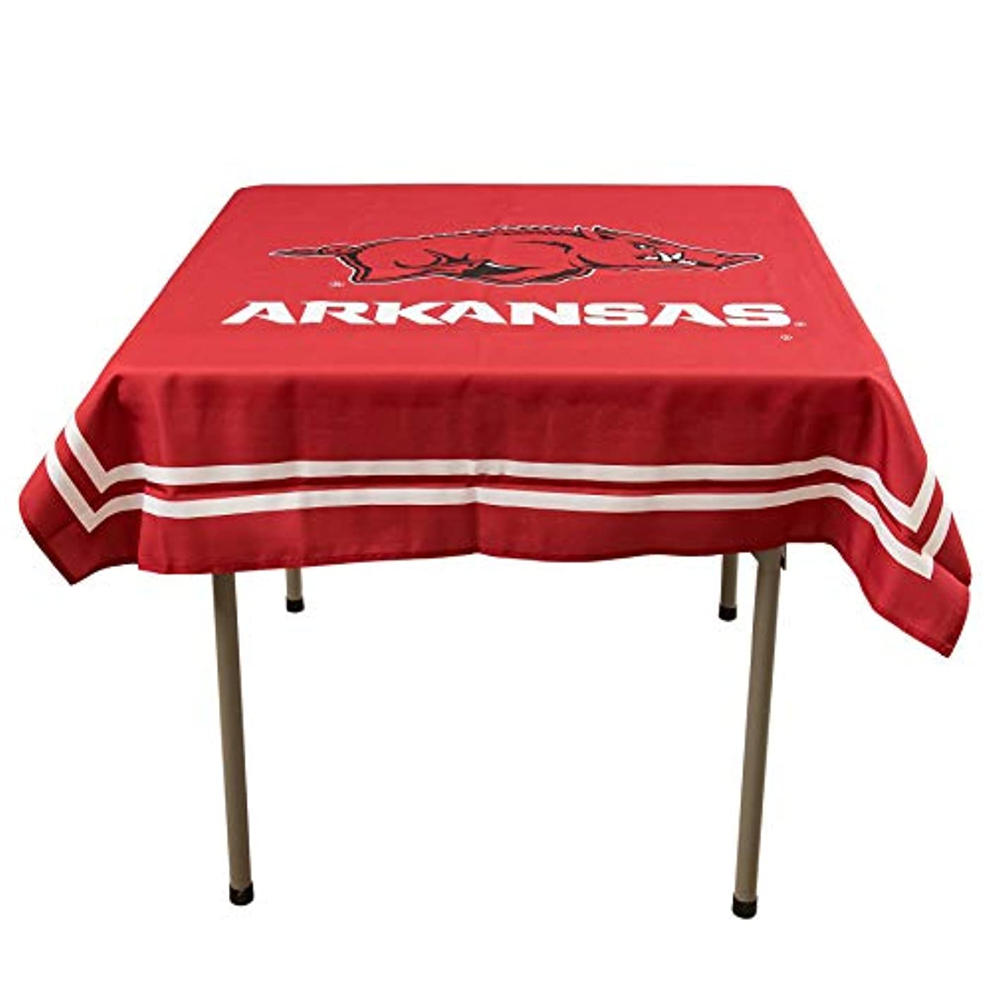 College Flags and Banners Co. Arkansas Razorbacks Logo Tablecloth or Table Overlay