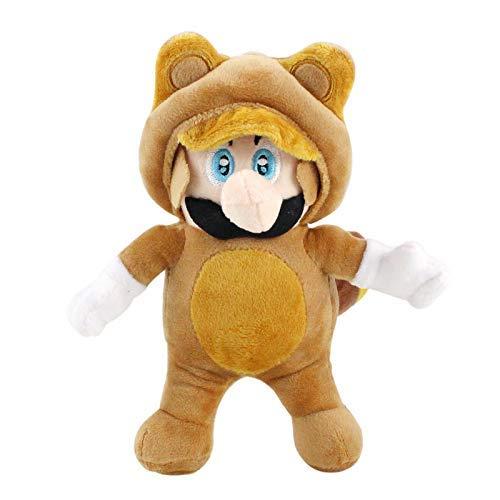 ZHTY Super Mario Peluche Toy Super Mario Super Mary Disfrazado Beaver Cat Llush Doll Doll Doll Doll Gift Nios. Song