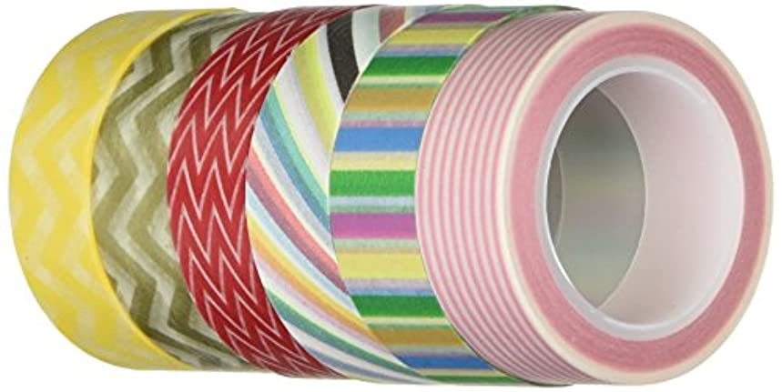 Wrapables VPK6 Premium Value Pack Japanese Washi Masking Tape Collection, Set of 6