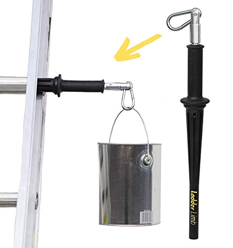 LadderLimb Ladder Paint Bucket Can & Tool Bag Holder Hook Hanger Safety Accessory. Helping Third Hand Assistant in DIY & Trade Work for Painting, Repair, Roofing & Cleaning Jobs