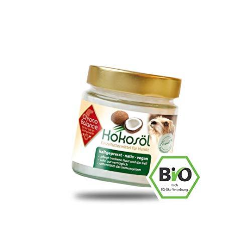 ChronoBalance® Bio Kokosöl für Hunde, kaltgepresst in Deutschland, natürliche Nahrungsergänzung, für Fellpflege und Hautpflege, vegan, in Lebensmittel-Qualität, 200ml, 400ml, 1000ml