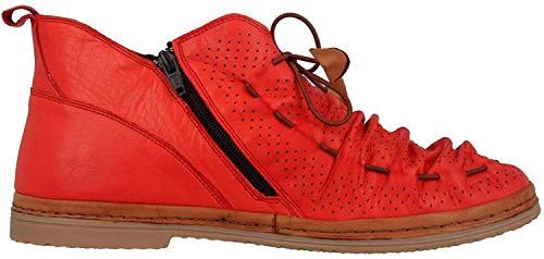 Manitu Stiefel in Übergrößen Rot 991333 4 große Damenschuhe, Größe:42