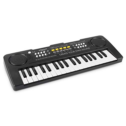aPerfectLife Kids Keyboard Piano, 37 Key Portable Electronic Piano for Kids, Digital Music Piano Keyboard Educational Toys for 3 4 5 6 7 8 Year Old Girls Boys (Black)