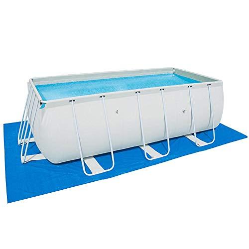 Nrkin Rectangular Pool Cover, Poolabdeckplane,Bodenschutzmatte, Schaumstoff Poolmatte,Schwimmbadzubehör,Für Rectangular Frame Pool