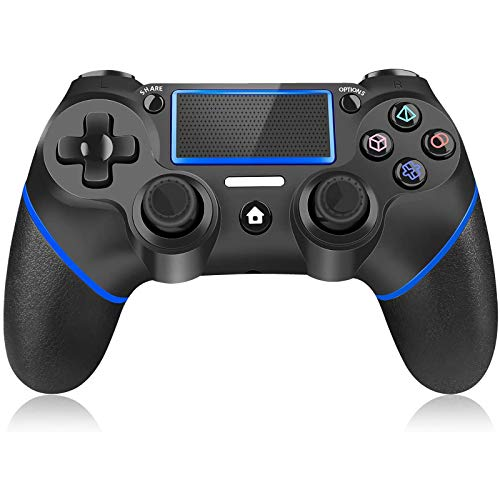 Controller for Playstation 4, Y Team Wireless PS4 Controller for PS4, Gamepad Joystick Remote Controller Compatible with Playstation 4/Pro/Slim/PC, Dual Vibration/Audio Function/Charging Cable (Blue)