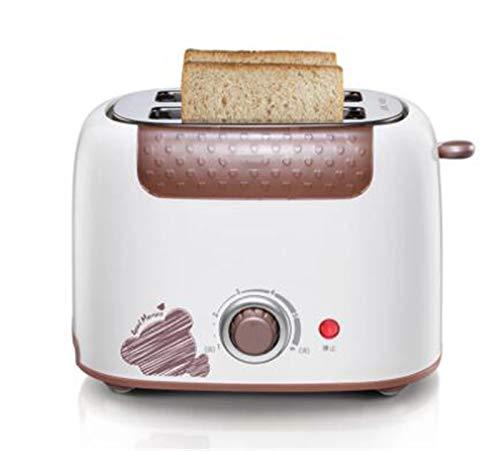 LVYE1 MRMF Toaster, Tostadora 2 Rebanadas, Acero Inoxidable con Control De Tostado Ajustable, Ajustes De Recalentamiento, Bandeja para Migas Extraíble, 800 W