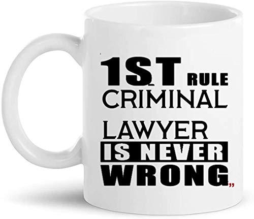 Witze Strafverteidiger Becher Geschenk - Rechtsanwalt Law School 11Oz Kaffeetasse Geschenke - Office Party Geschenke für Männer Frauen Tassen Tassen T-Shirt