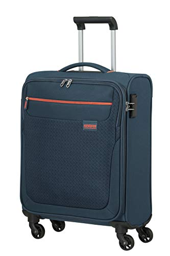 American Tourister Sunny South Luggage- Carry-On Luggage, Spinner S (55 cm - 36 L), Blau (Navy)