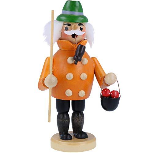 COM-FOUR® wierookrok gemaakt van hout, wierookfiguur voor Kerstmis en Advent (01 stuk - oranje)
