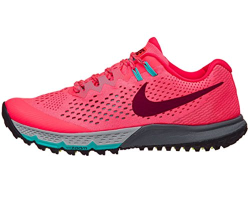 Nike Women's Air Zoom Terra Kiger 4 Running Shoe (6 B(M) US, Hot Punch Chaud/Bordeaux)